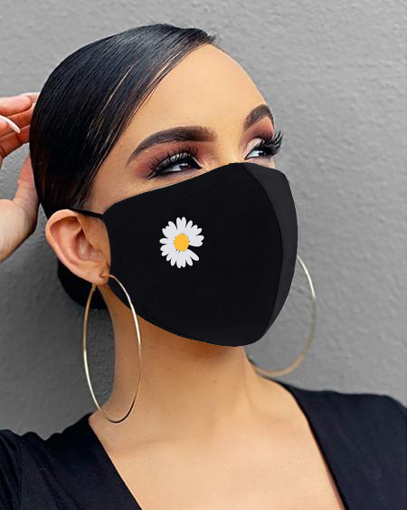 Heart / Daisy / Leaf Print Breathable Mouth Mask Washable And Reusable thumbnail