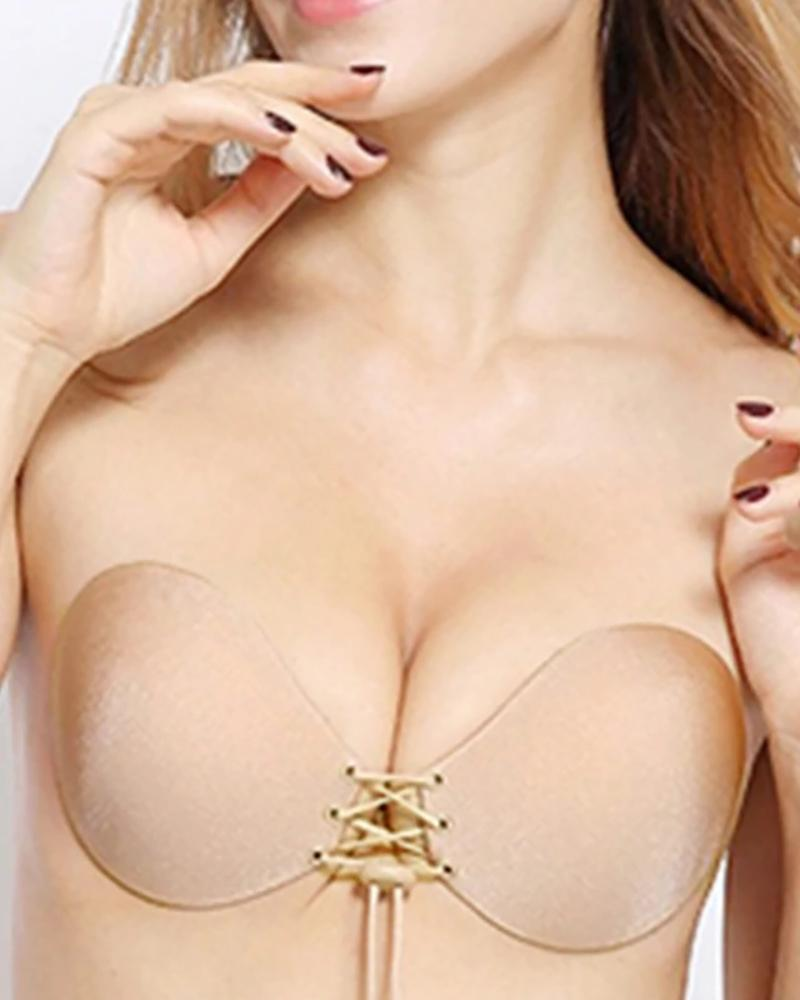 Invisible Bra Push Up Seamless Self-Adhesive Sticky Front Strapless thumbnail