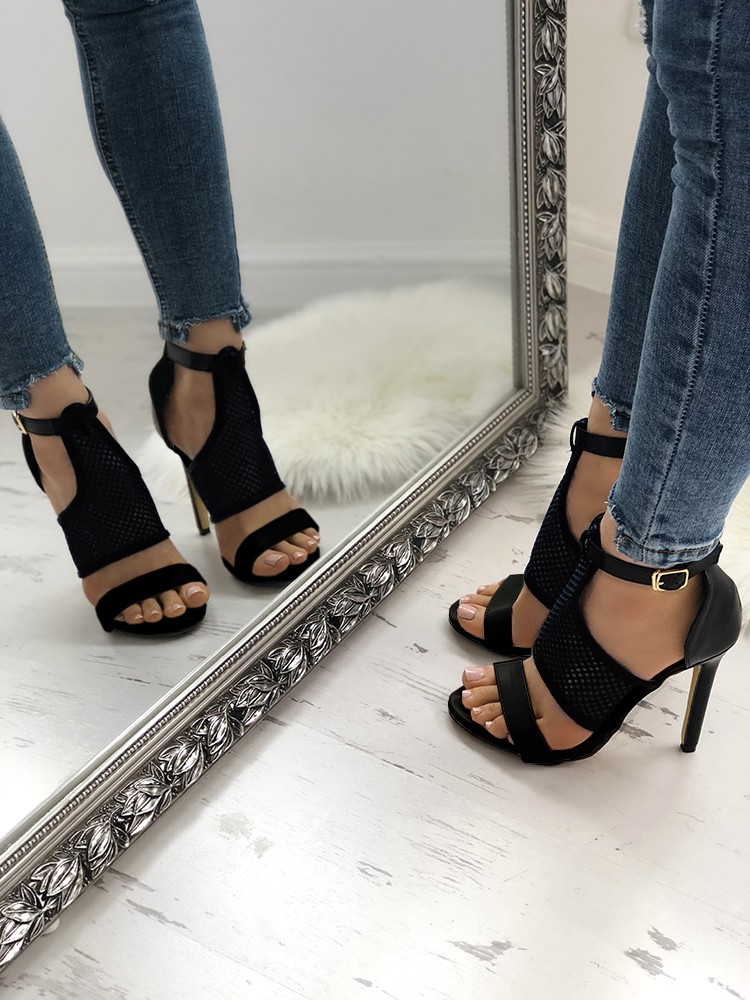 boutiquefeel / Open Toe Thin Heeled Sandals