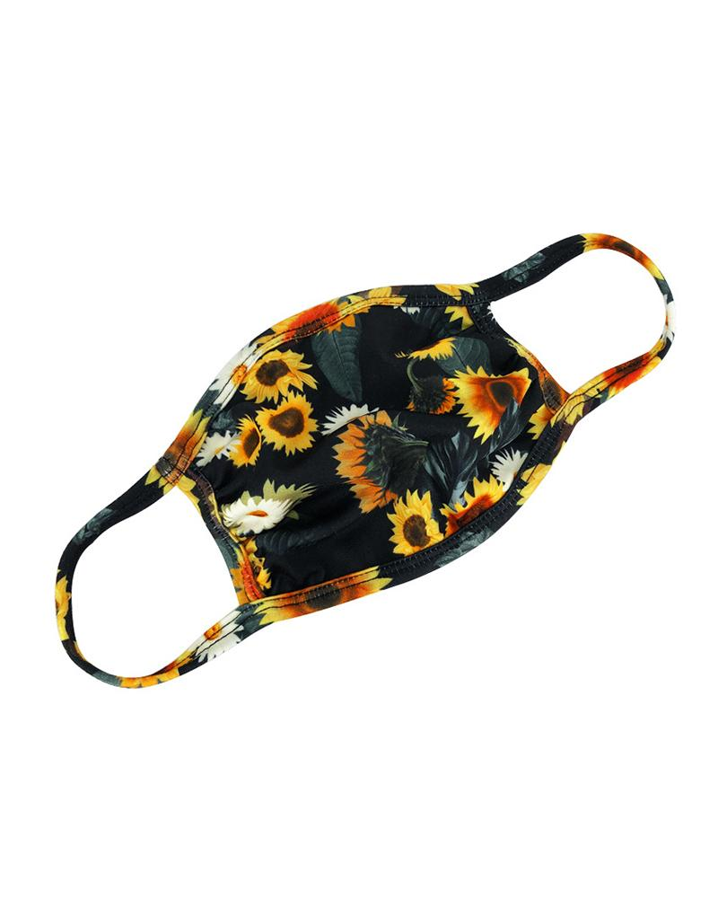 Floral / Tie Dye Print Ear Loop Breathable Mouth Mask thumbnail