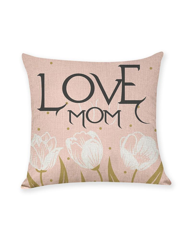 1PCS Mother's Day Heart Letter Print Cushion Cover Without Filler, Style7