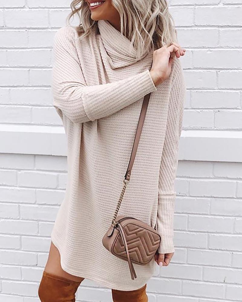 Knit Casual Long Sleeve Dress