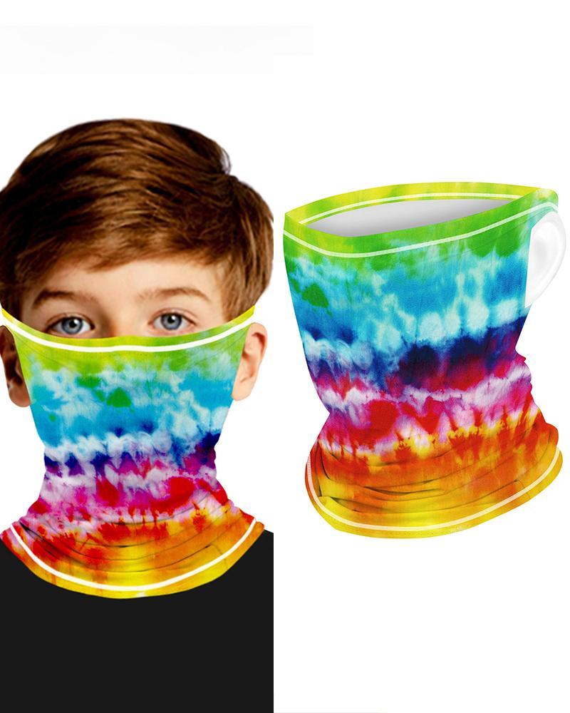 Tie Dye Print Breathable Ear Loop FaceBandana Headwrap For Children thumbnail