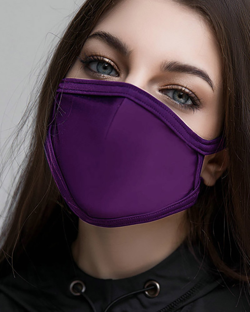 Solid Breathing Washable Face Mask (1 filters as gift) thumbnail