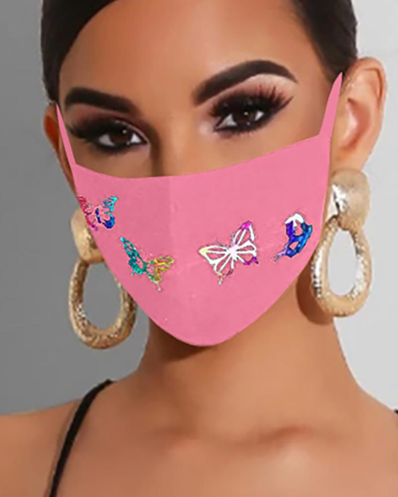 Butterfly Print Ear Loop Breathable Mouth Mask thumbnail