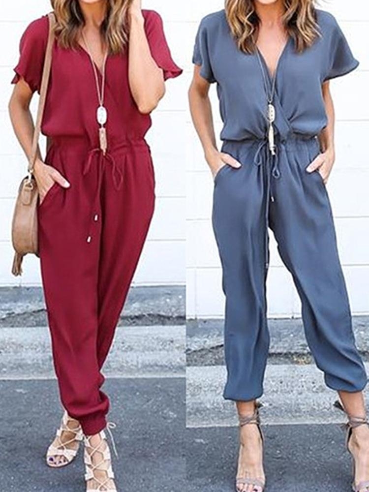 Chiffon Tied Loose Jumpsuit