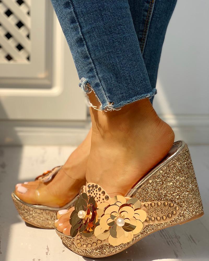 Cliont Femmes /Ét/é Strass Perle Boh/ême Folk Bas Talon Sandales Boho Plage Tongs Plat Elastique T-Strap Post Thong Sandales Chaussures