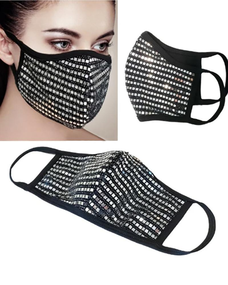 Sequins Breathable Mouth Mask Reusable thumbnail