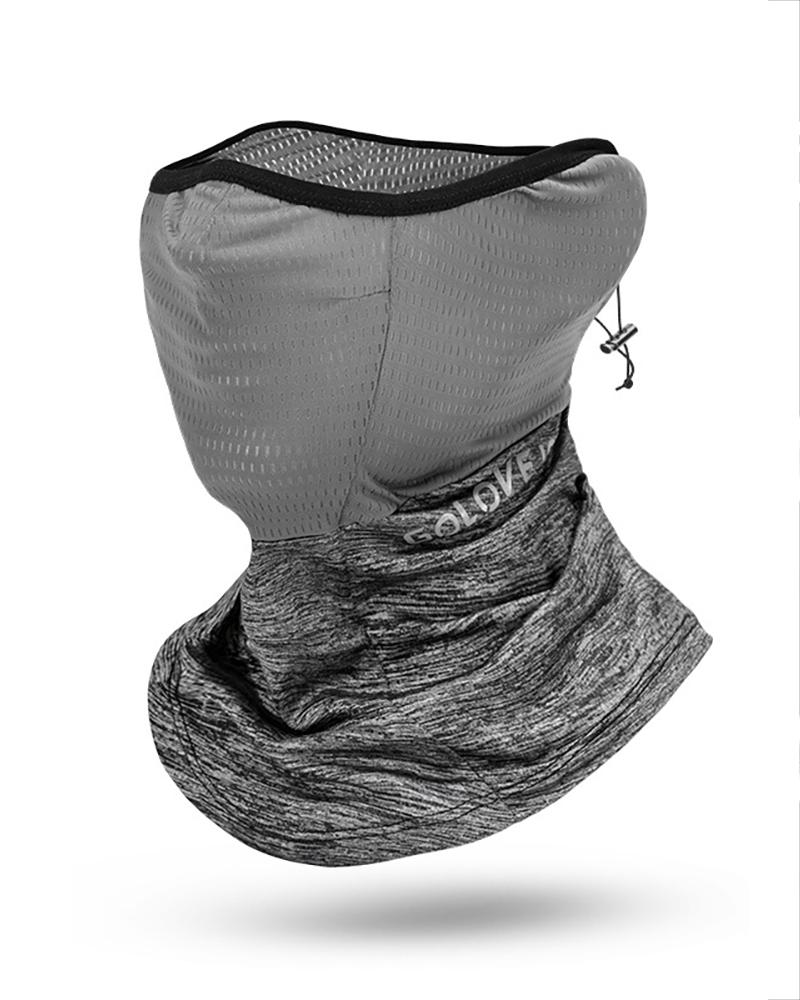 Ice Silk UV Protection Hollow Out Face Scarf Bandana thumbnail