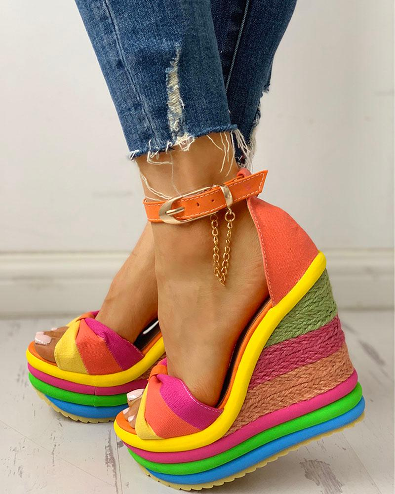 Espadrille Espadrille Espadrille Sandals Colorful Wedge Sandals Muffin Colorful Wedge Colorful Muffin CdxBWroe
