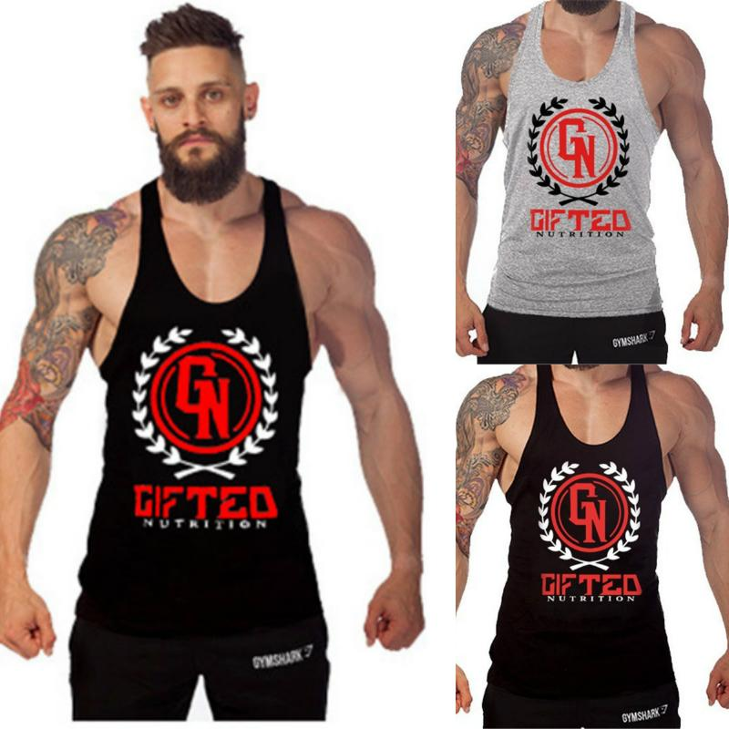 Men's Professional Exercise Sleeveless Muscle Tank Tops Stringer Gym Bodybuilding Fitness Shirt Comfort Sports Outdoor thumbnail