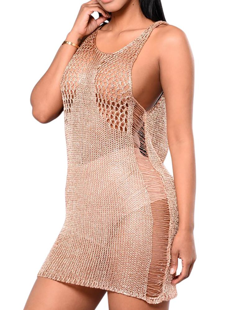 b490113e824 Sexy Open Back Hollow Out Crochet Mini Dress Online. Discover ...