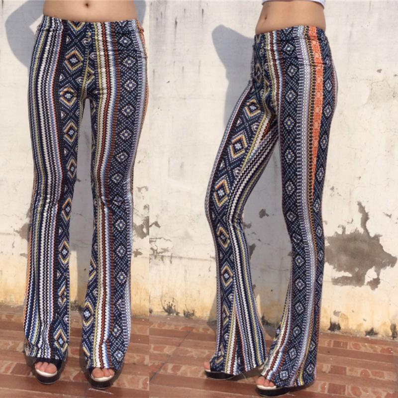325f699d96af Fashion Women s Casual Retro Aztec Print Palazzo Trousers High Waist Flare  Wide Leg Long Pants
