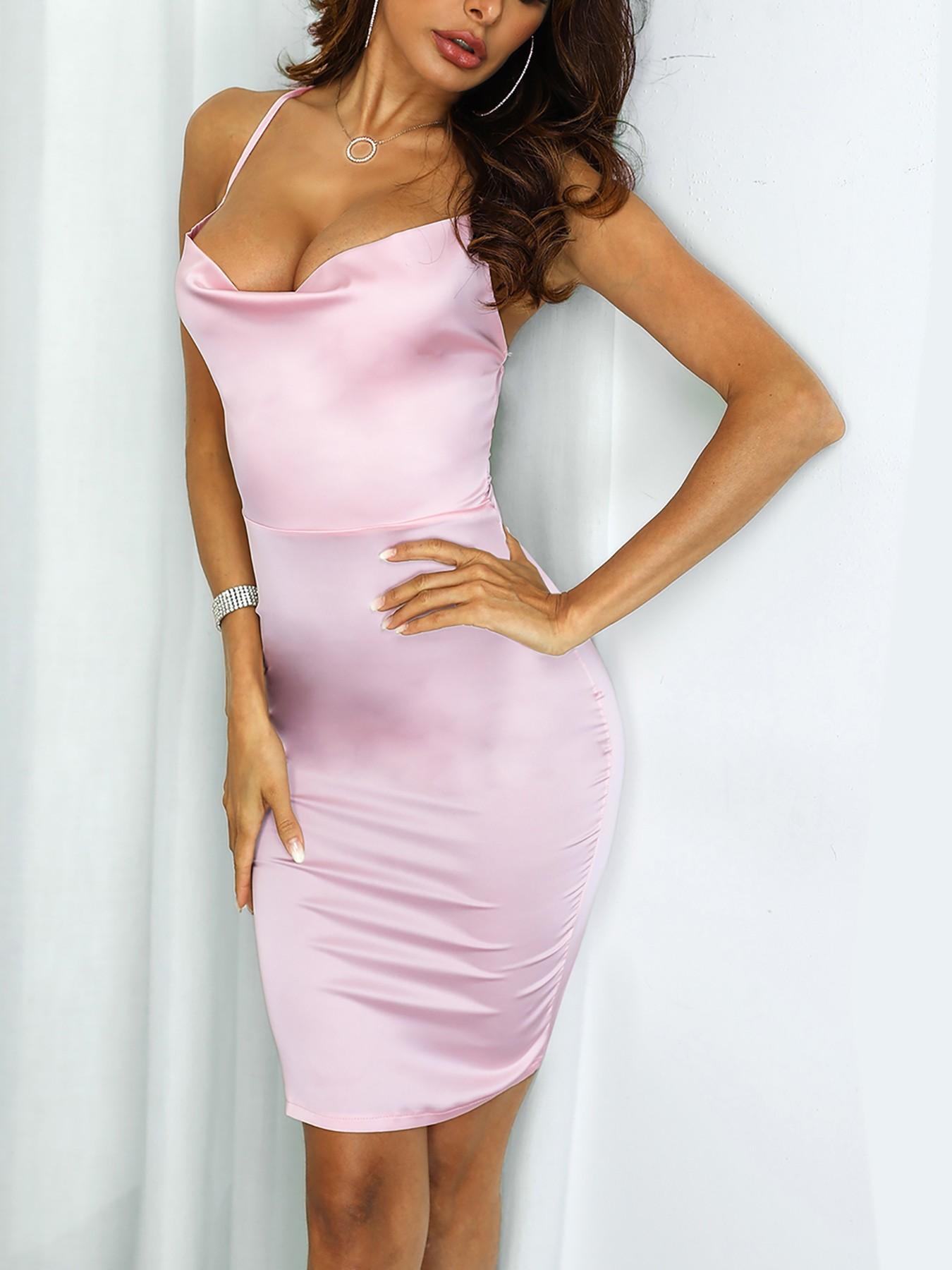 boutiquefeel / Crisscross Open Back Bodycon Dress