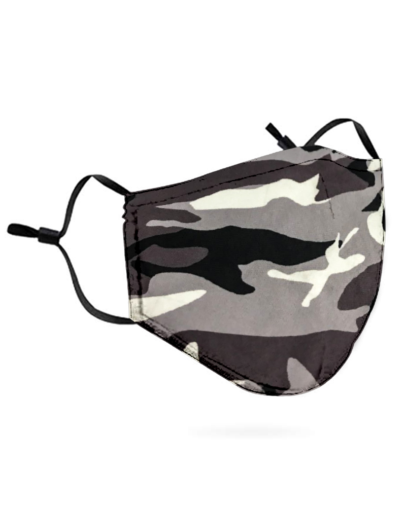Camouflage Breathable Mouth Mask Washable And Reusable Without Cord Lock Toggles thumbnail