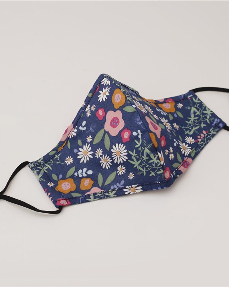 Floral / Pineapple / Cheetah Print Ear Loop Breathable Mouth Mask thumbnail