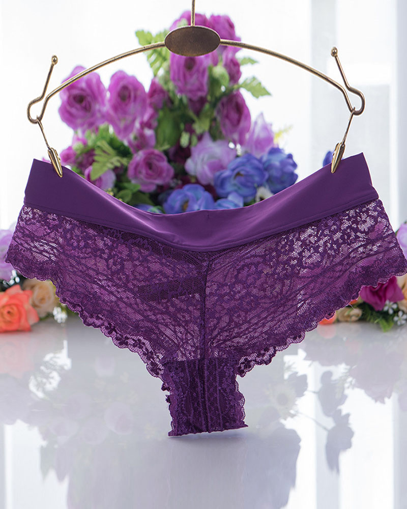 Sexy G-string Floral Lace Thong