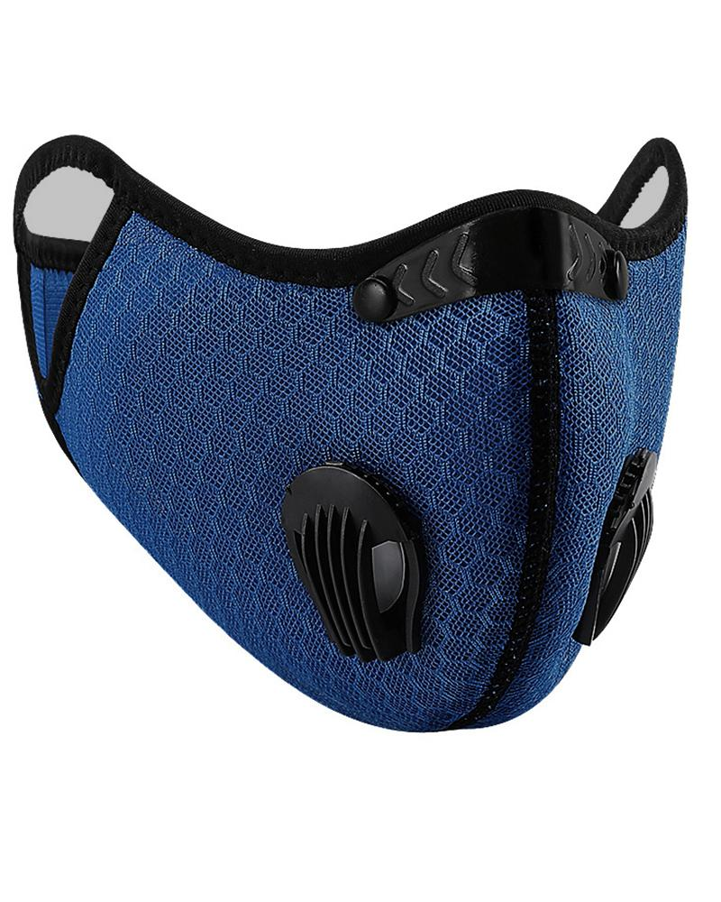 Solid Breathing Washable 2 Valves Face Mask (1 filters as gift) thumbnail