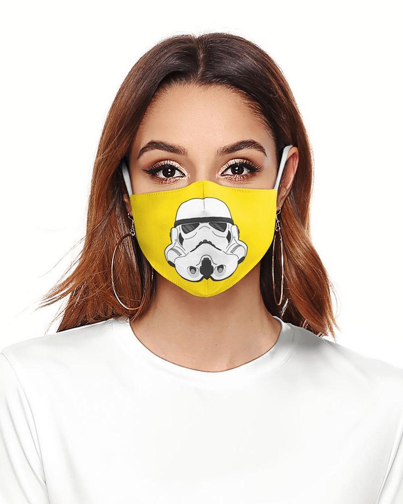 Cartoon Print Colorblock Breathable Face Mask thumbnail
