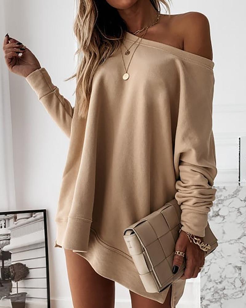 Long Sleeve Casual Sweatshirt Dress thumbnail