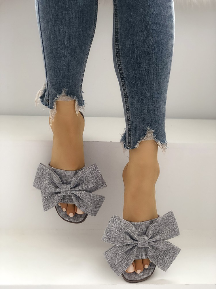 boutiquefeel / Open Toe Bowknot Espadrille Casual Slippers