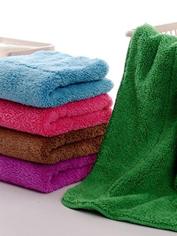 Double Layer Coral Velvet Cloth Dishclout Towel Wash Towel Soft Absorbent Cleaning Towel thumbnail