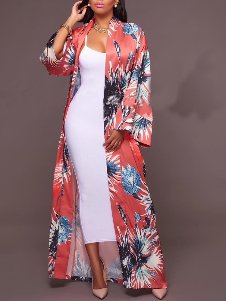 c6f4589cad5 Stylish Flare Sleeve Print Chiffon Cardigans Online. Discover ...