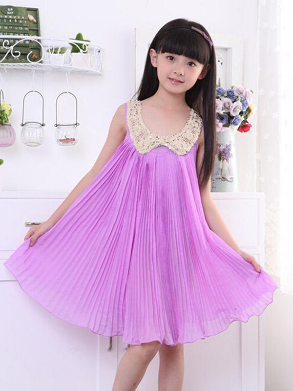 Cute Baby Girls Party Dress Princess Chiffon Tutu Pink Kids Sundress