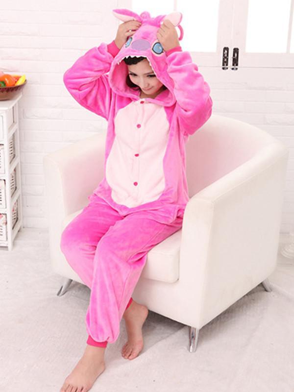 Pink Stitch Cartoon Onesies Animal Pajamas thumbnail
