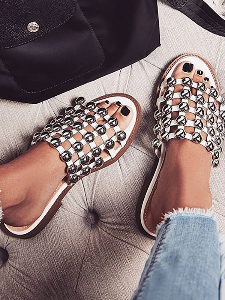 Amazing Price Cheap Online Outlet 2018 open toe embellished sandals Cheap Best Place Official Sale Online rYwaAz