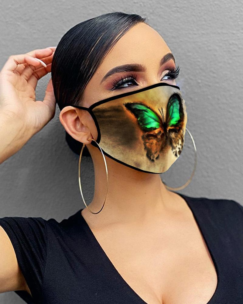Butterfly Print Breathable Mouth Mask Washable And Reusable thumbnail