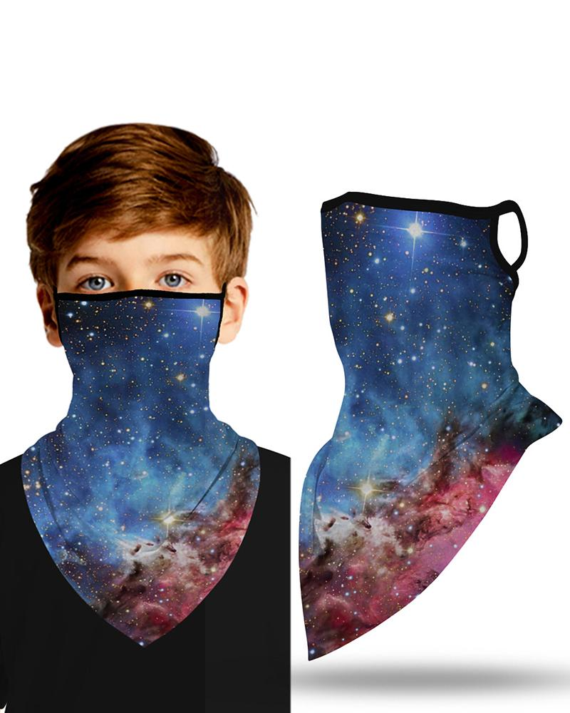 Starry Sky Print Breathable Ear Loop Face Cover Windproof Outdoors thumbnail