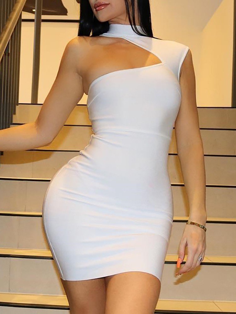 boutiquefeel / One Shoulder Cut Out Bodycon Dress