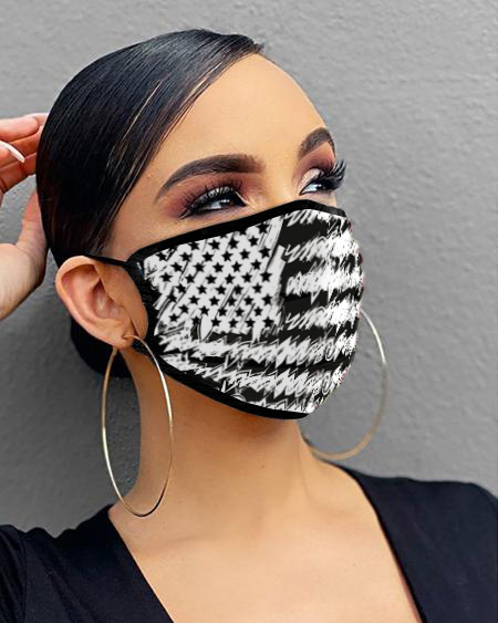 Flag / Animal / Letter / Lip Print Breathable Mouth Mask Washable And Reusable thumbnail