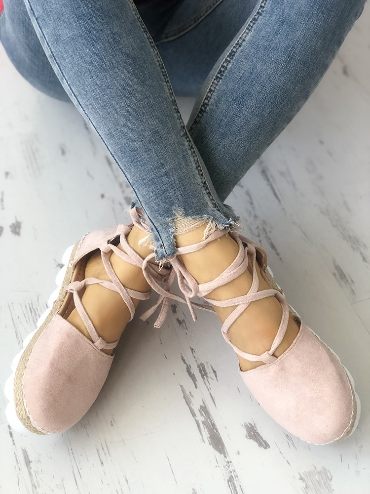 boutiquefeel / Casual Strappy Espadrille Flats Shoes