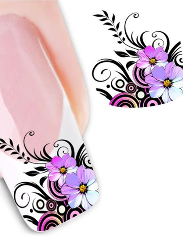 Women's Elegant Purple Flowers / Running Horse / Pet Dog / Marilyn Monroe / Cute Fox Animal DIY Sticker Nail Art Decals Nails Wraps Nail Tools Manicure thumbnail