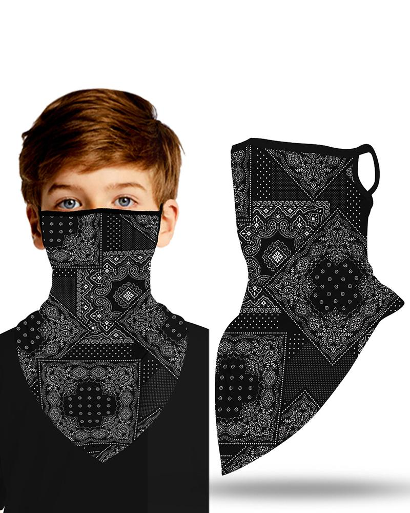 Print Breathable Ear Loop Face Cover Windproof Outdoors thumbnail