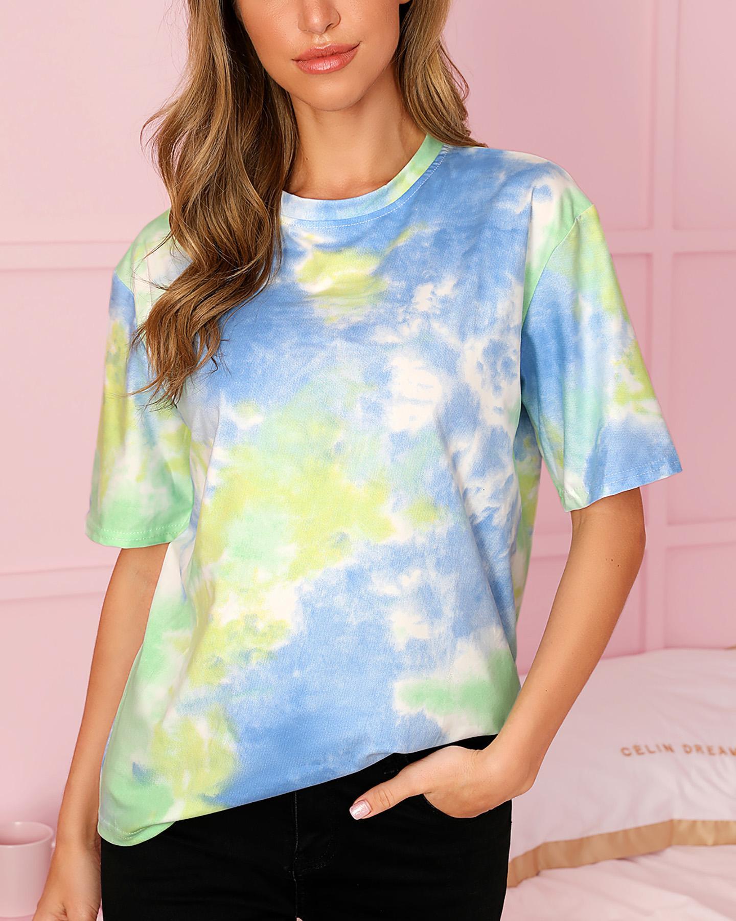 Tie Dye Print Short Sleeve T-shirt thumbnail