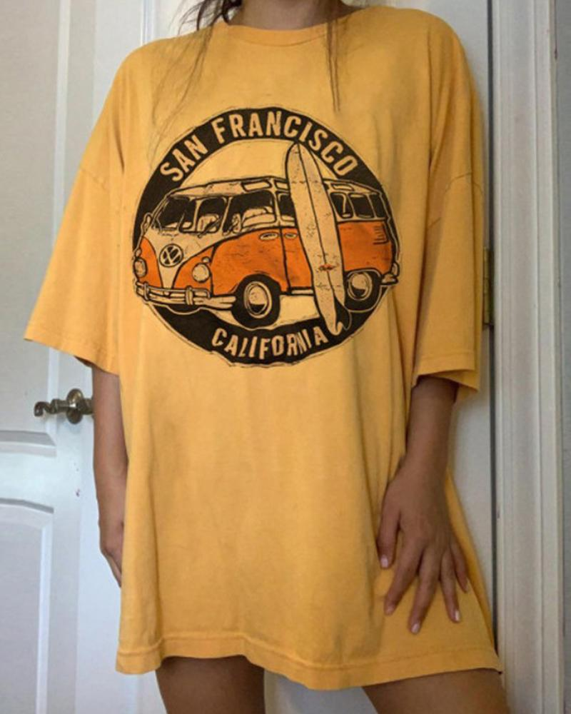 California Print Tunic T-Shirt thumbnail