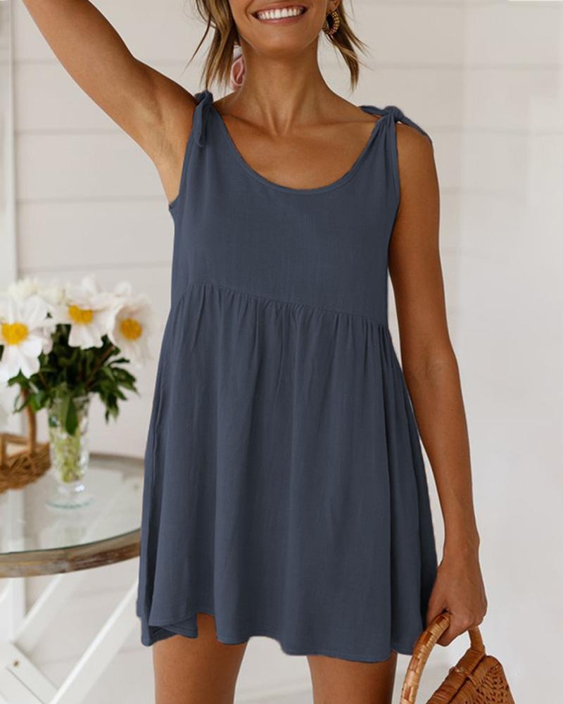 Tied Detail Sleeveless Casual Dress thumbnail