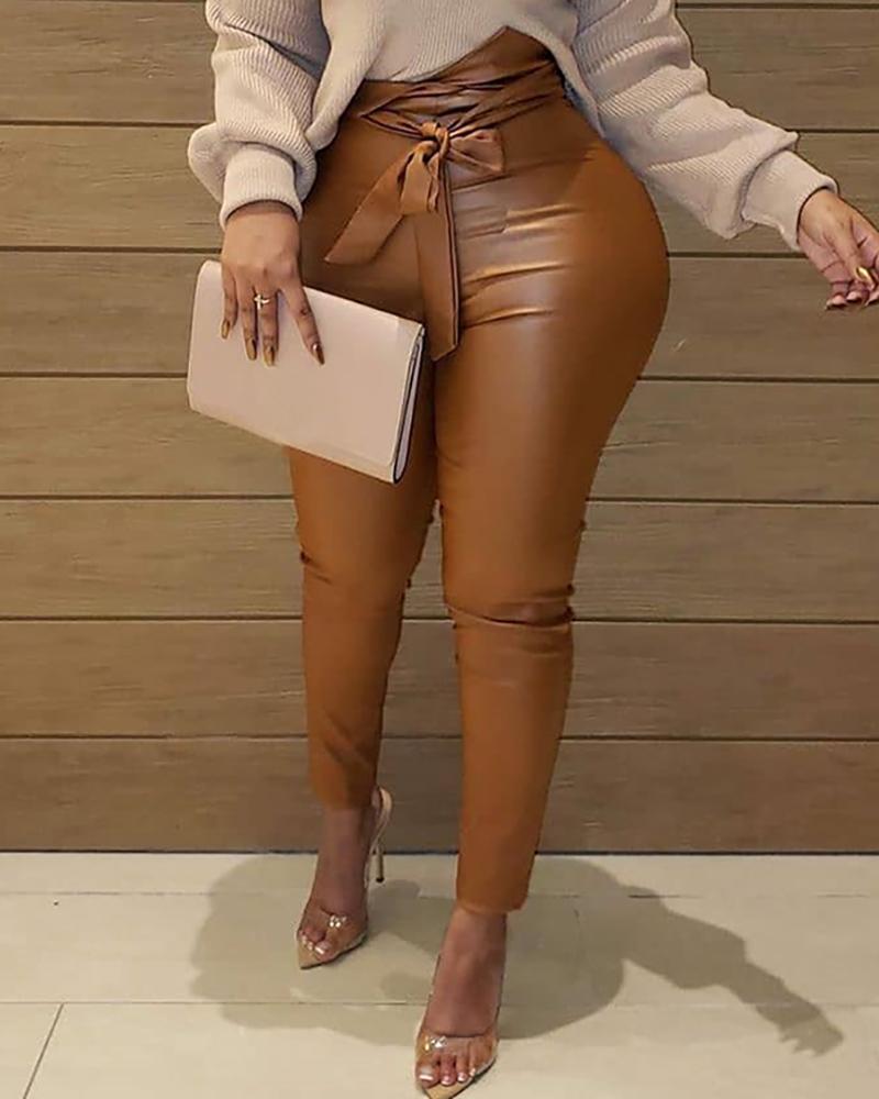 Faux Leather High Waist Pants thumbnail