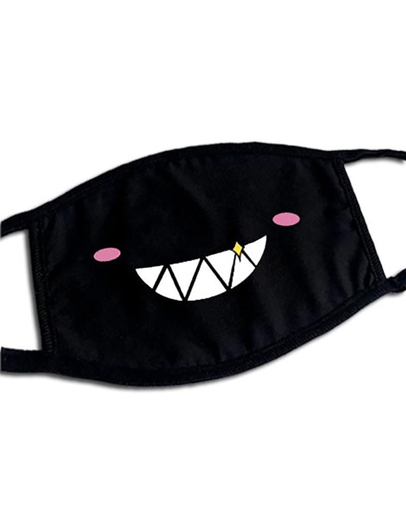 Cute Phiz Print Ear Loop Breathable Mouth Mask thumbnail