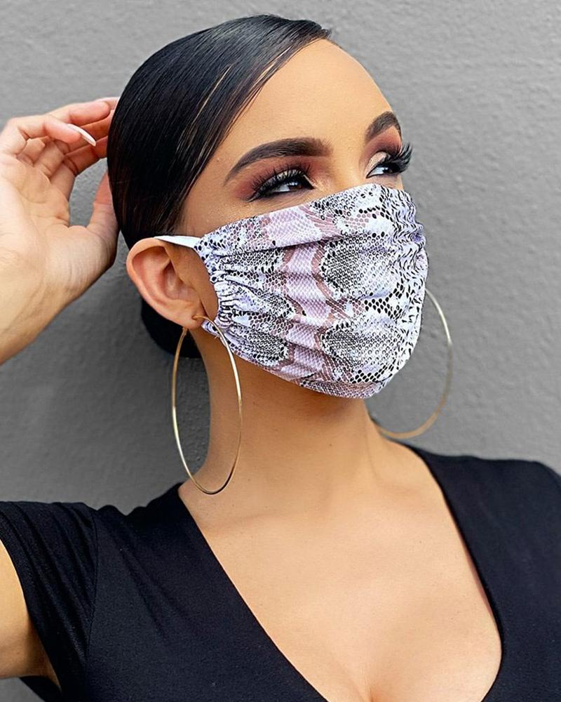 Snakeskin Breathable Mouth M .a. s. k Washable And Reusable thumbnail