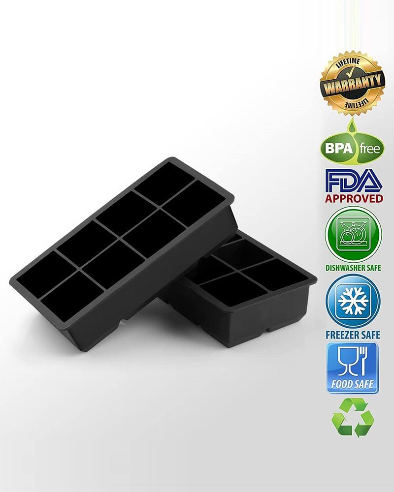 Silicone 8 Cavity Ice Cube Molds thumbnail