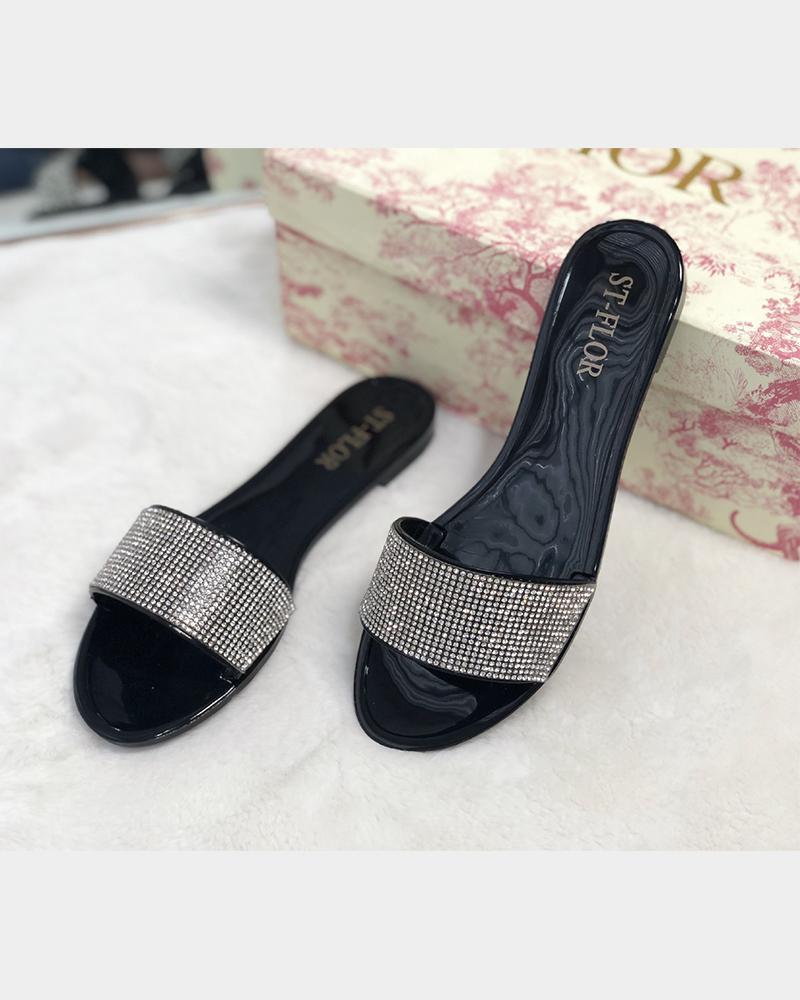 Jelly Sequins Flat Sandals thumbnail