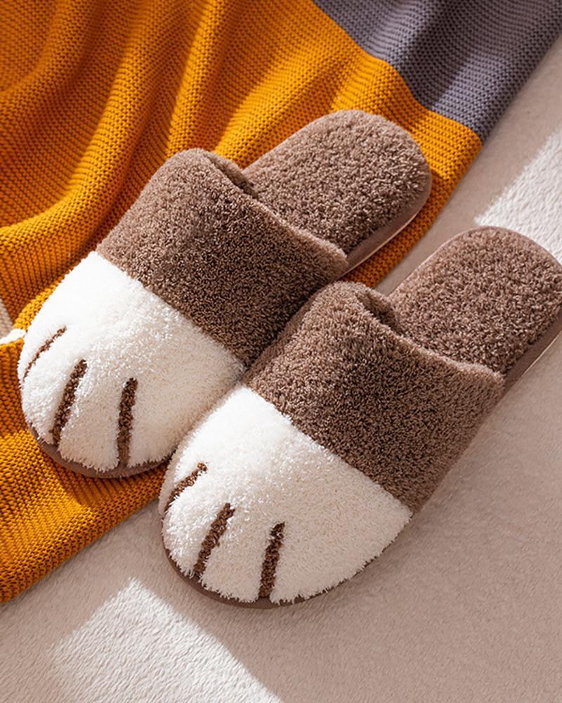 Men Cat Paw Slippers, Coffee