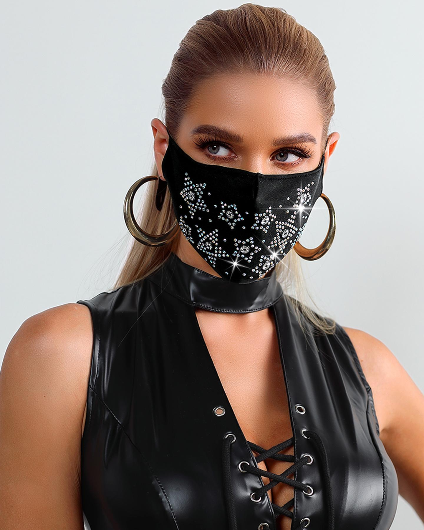Studded Ear Loop Breathable Mouth Mask Reusable thumbnail