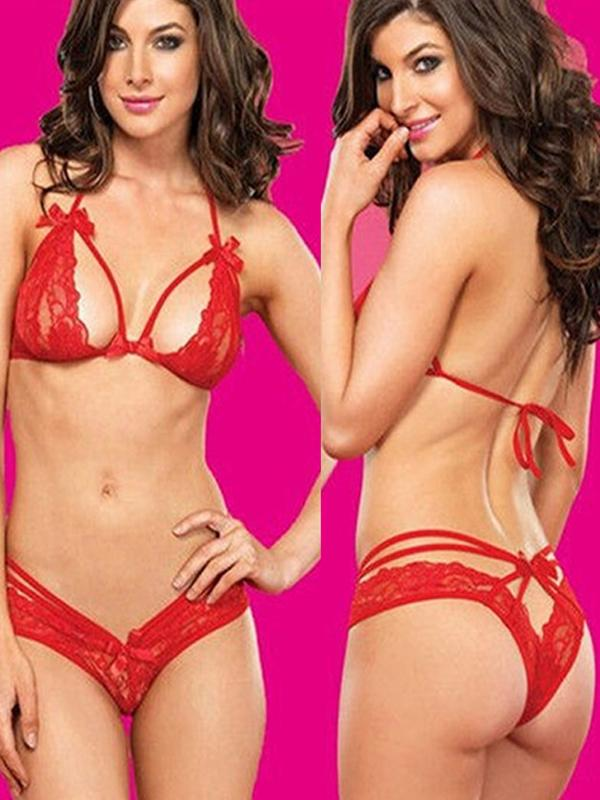 Sexy Ladys Elegant Lingerie Lace Bra Top And Panty Sexy Sets Honeymoon Gift  Online. Discover hottest trend fashion at chicme.com