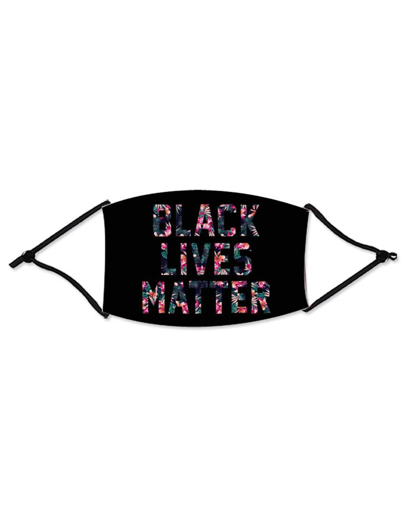 Letter Slogan Print Colorblock Breathable Mouth Mask thumbnail