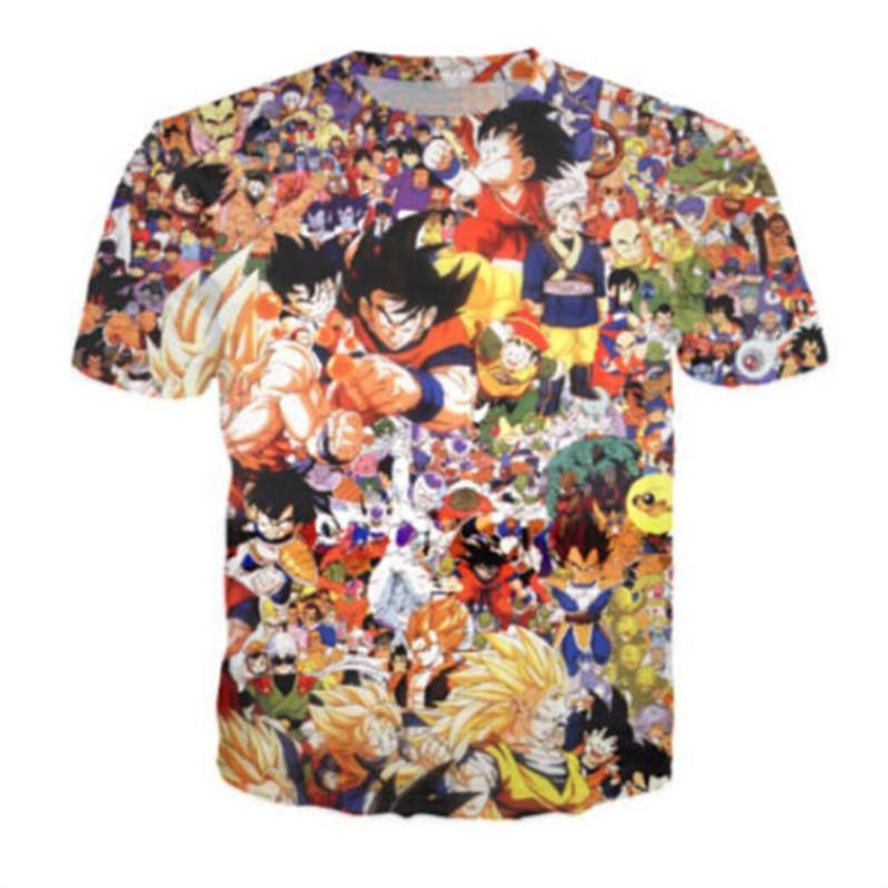 New Mens Unisex Short Sleeve T Shirt Cartoon Characters Printed Tees Casual Slim Fit Tops Summer Shirt thumbnail